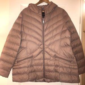 NWT Lane Bryant Hooded & Packable Puffer Coat